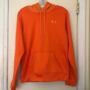 Bright orange under armour hoodie